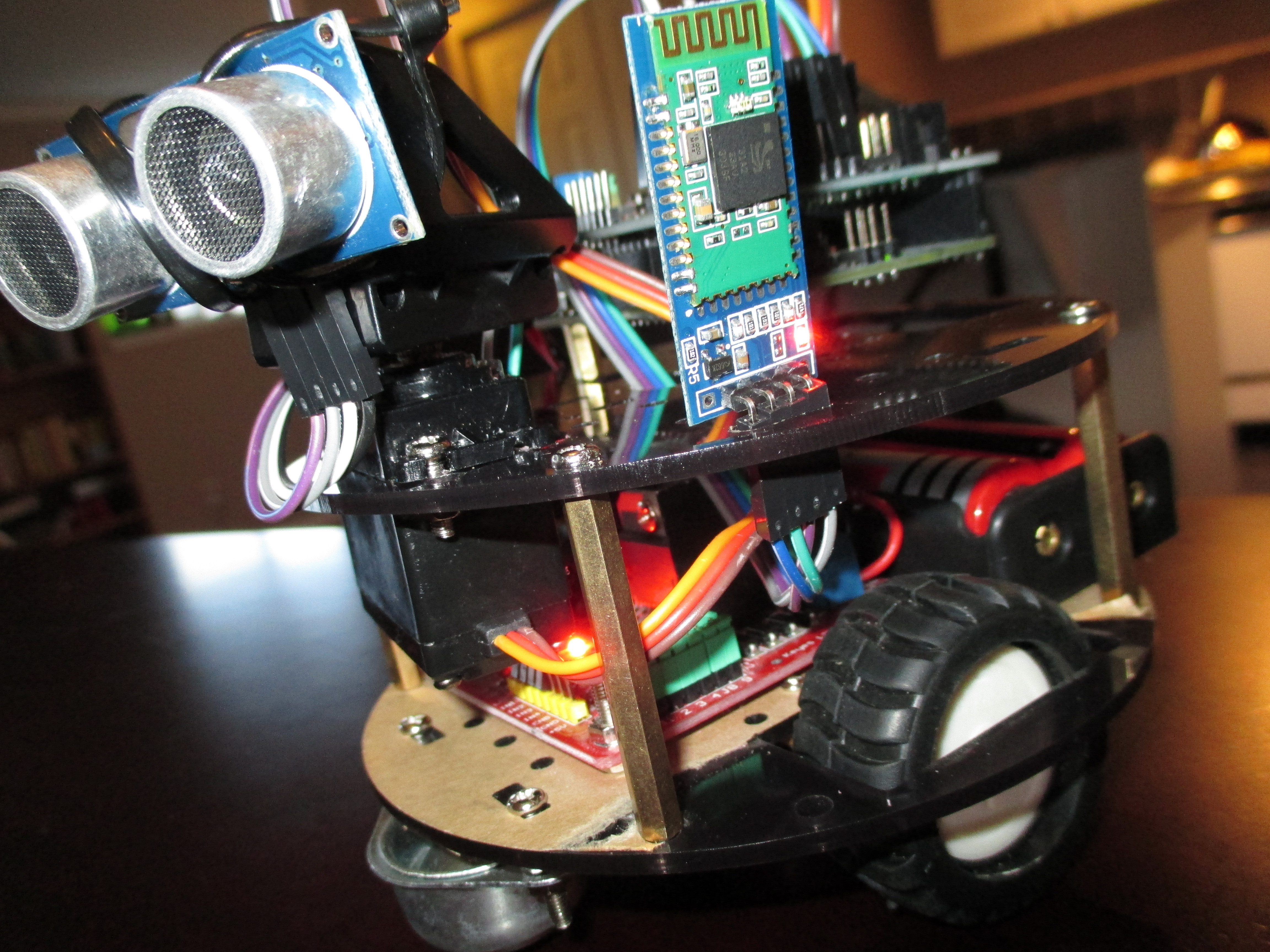 Manual control of an arduino based robot using android
